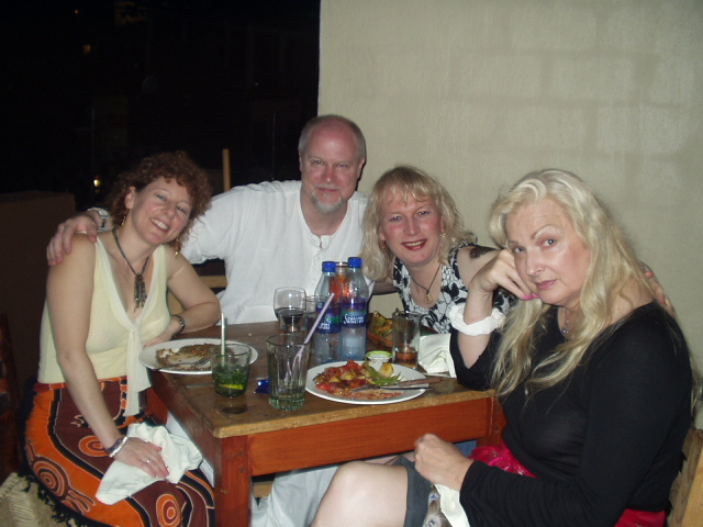 Gail, David, Michael-Michelle and Millie in Mexico Jan 2006
